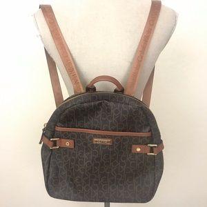 Calvin Klein Brown Monogram Backpack